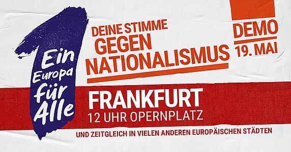 sale retailer 9199a 2eefb ... um für ein demokratisches, friedliches und solidarisches Europa zu  demonstrieren – für ein Europa, das nicht durch Nationalismus, Hass, ...